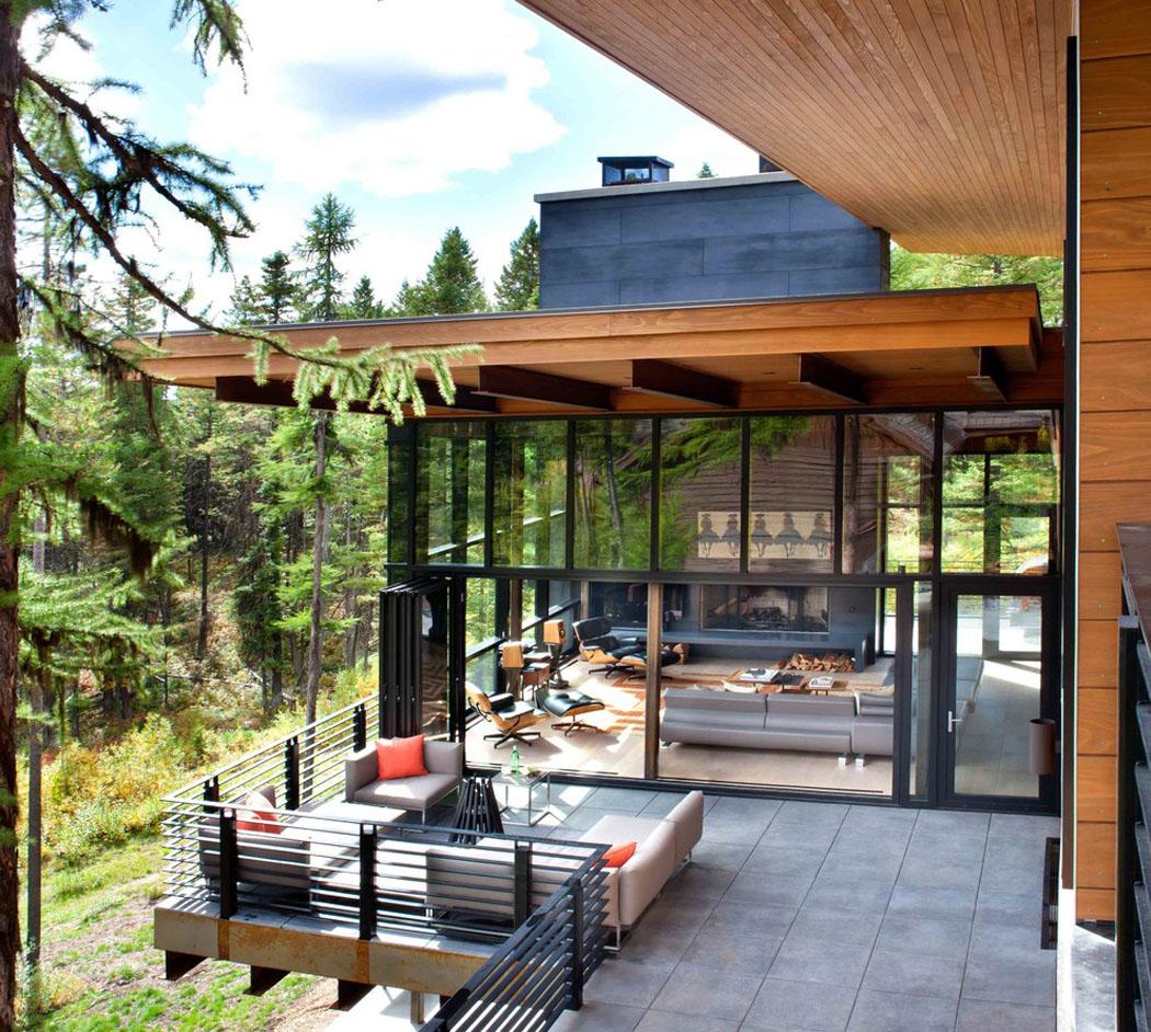 Moderne maison rustique à l'architecture et agencement créatif au ...