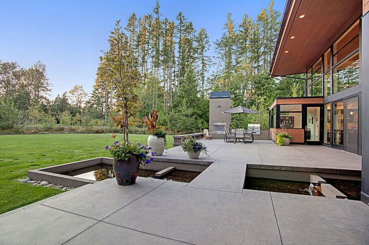espaces outdoor maison darchitecte - Belles Entree De Maison