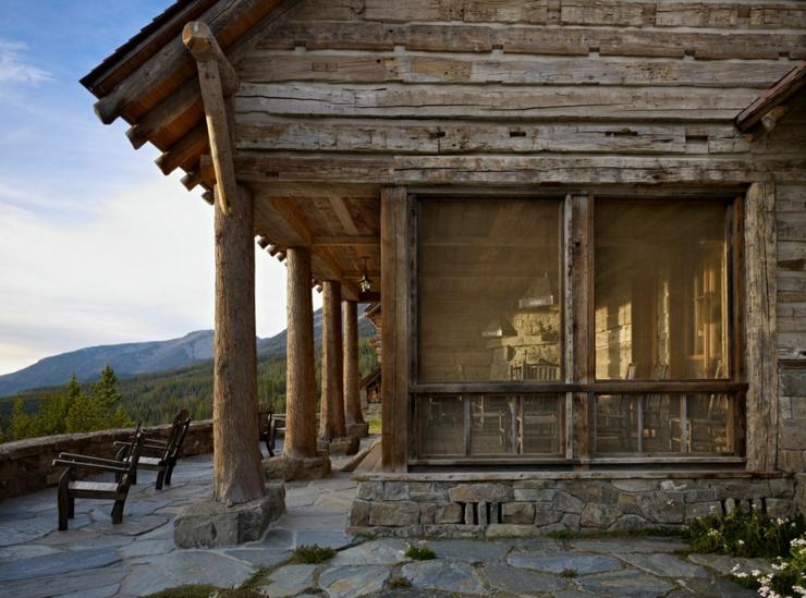 Maison rustique enti rement en bois au montana tats - Maison rustique yellowstone traditions ...