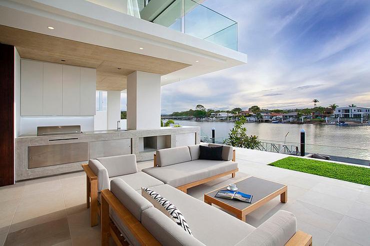 Maison moderne australienne pour une famille moderne for Salon de jardin exterieur contemporain