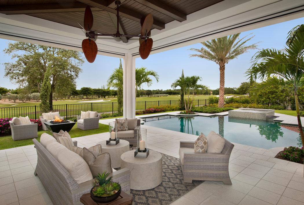 Luxueuse villa de r ve pour des vacances de tout confort sur la c te en flori - Amenagement terrasse piscine exterieure ...