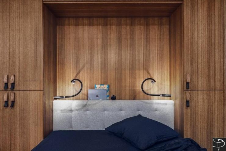 Appartement moderne gdansk en pologne vivons maison for Placard tete de lit