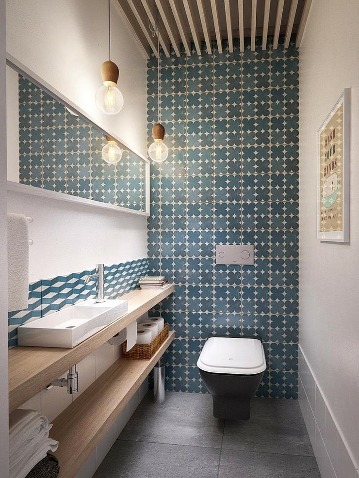 Appartement moderne aux faux airs d un loft vivons maison - Toilettes design maison ...