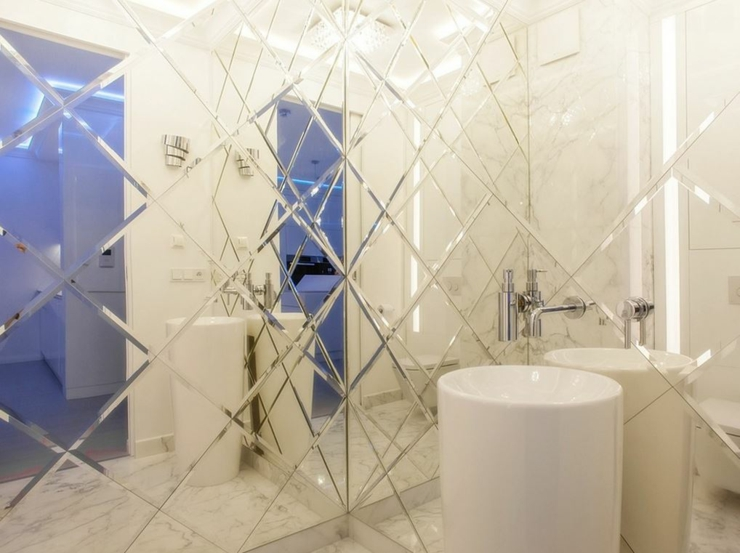 miroir toilettes design original