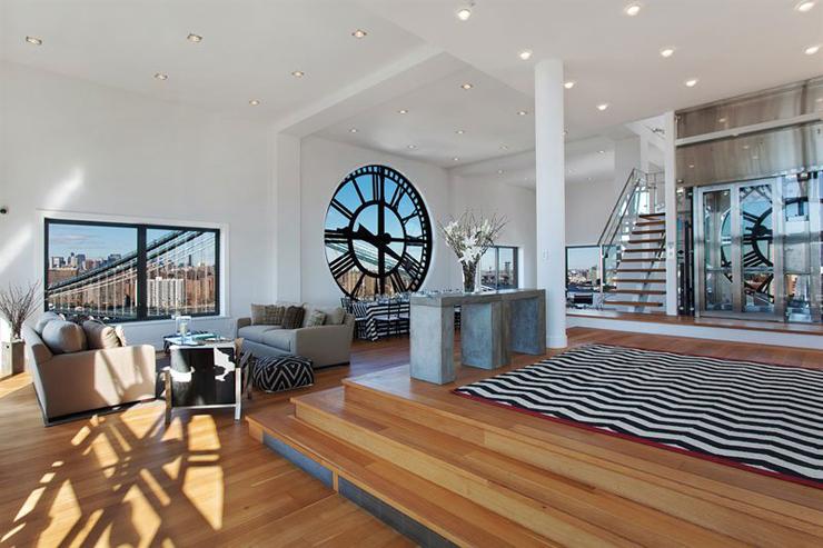 ... de vie principale de cet appartement de standing sur trois niveaux