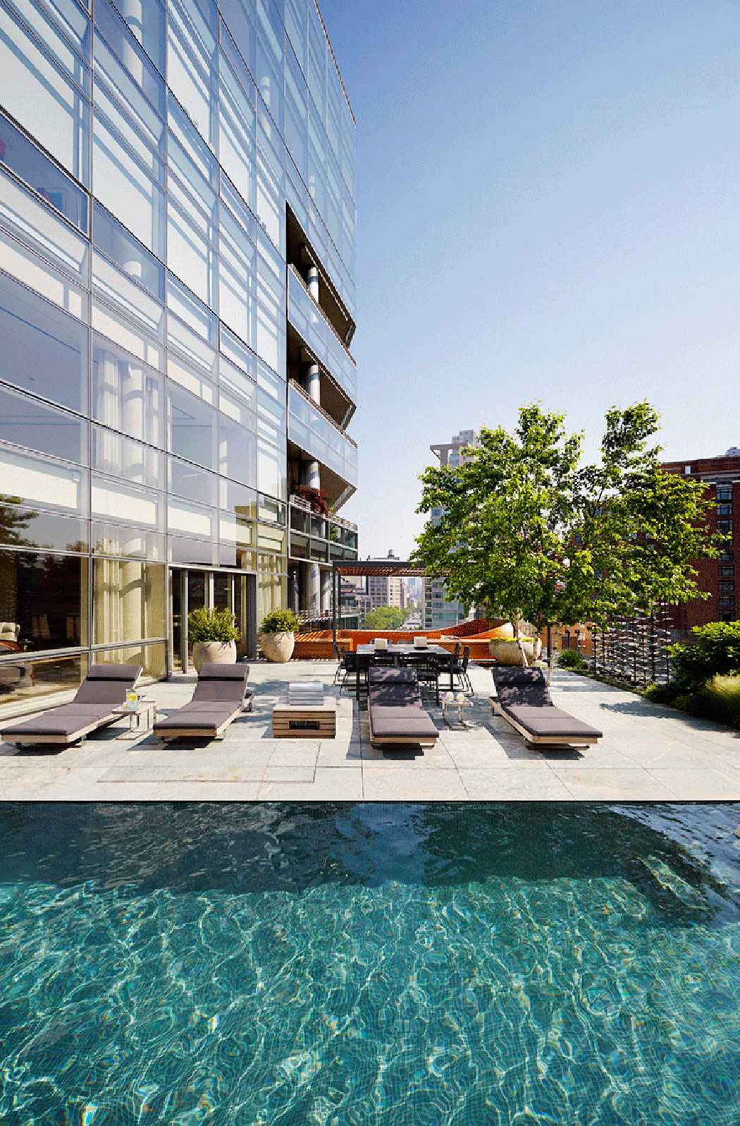 piscine privée triplex manhatten tribeca