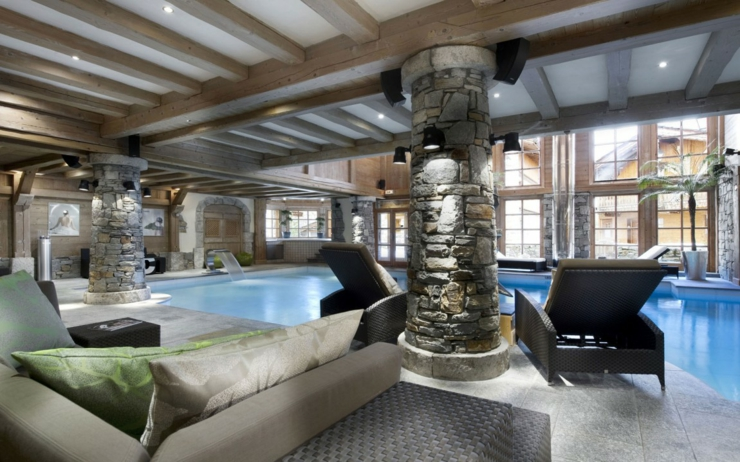 piscine luxe chalet courchevel 1850