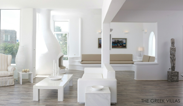 Vacances En Gr 232 Ce Dans Une Villa En Blanc Et Bleu Vivons