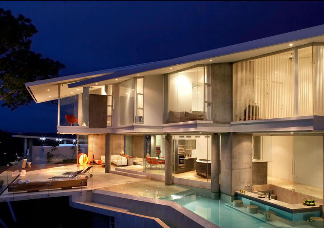Architecture contemporaine et superbe vue sur la mer depuis cette belle r sidence secondaire - Residence de vacances contemporaine miami ...
