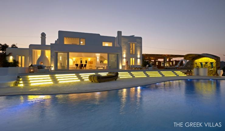 Vacances en gr ce dans une villa en blanc et bleu vivons maison - Villa de vacances exotiques island views ...