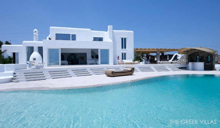 Vacances en gr ce dans une villa en blanc et bleu vivons - Vacances a la montagne villa rustique aspen ...