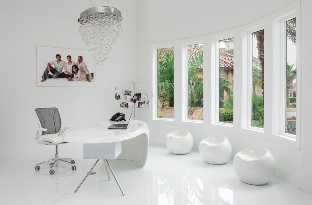 R Sidence Secondaire Texane Au Design Int Rieur L Gant En Blanc Vivons Maison