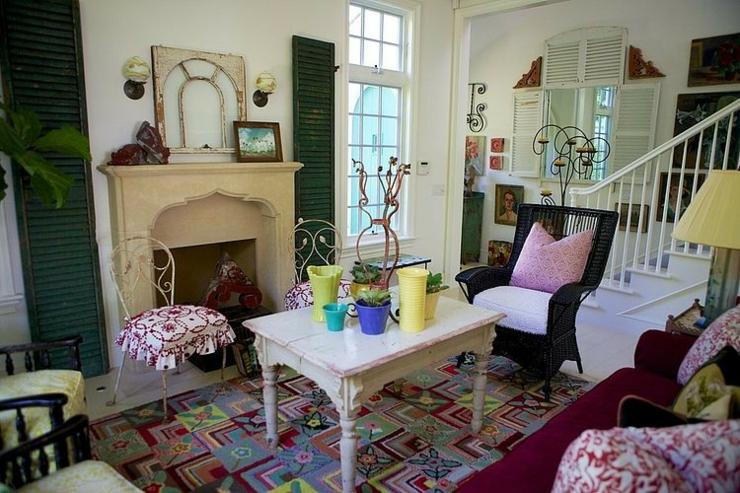 Maison de vacances la d co int rieure clectique - Interieur eclectique maison mallick design ...