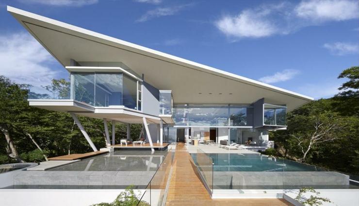 Villa contemporaine costa rica avec belle vue sur la mer - Residence de vacances gedney architecte ...