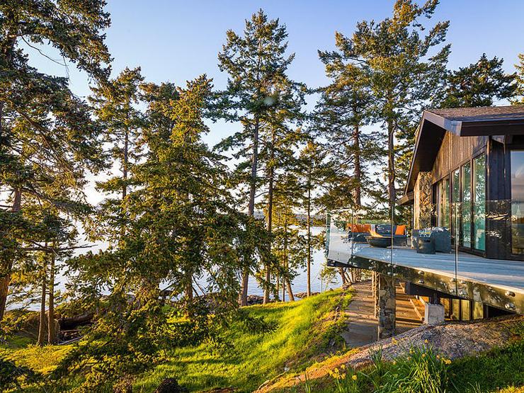 Villa moderne sur une le au canada vivons maison for Maison moderne canada