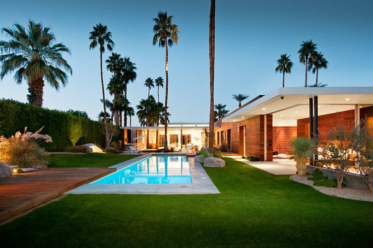 Plan Villa De Reve : Luxueuse maison de plain pied à indian wells en californie