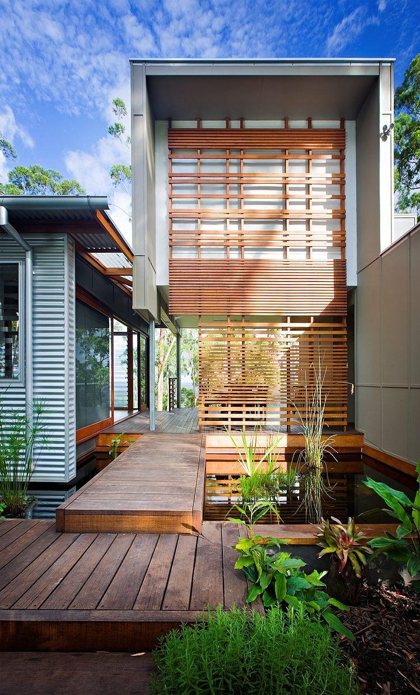 Conception asymétrique de cette maison contemporaine projet maison contemporaine éco responsable