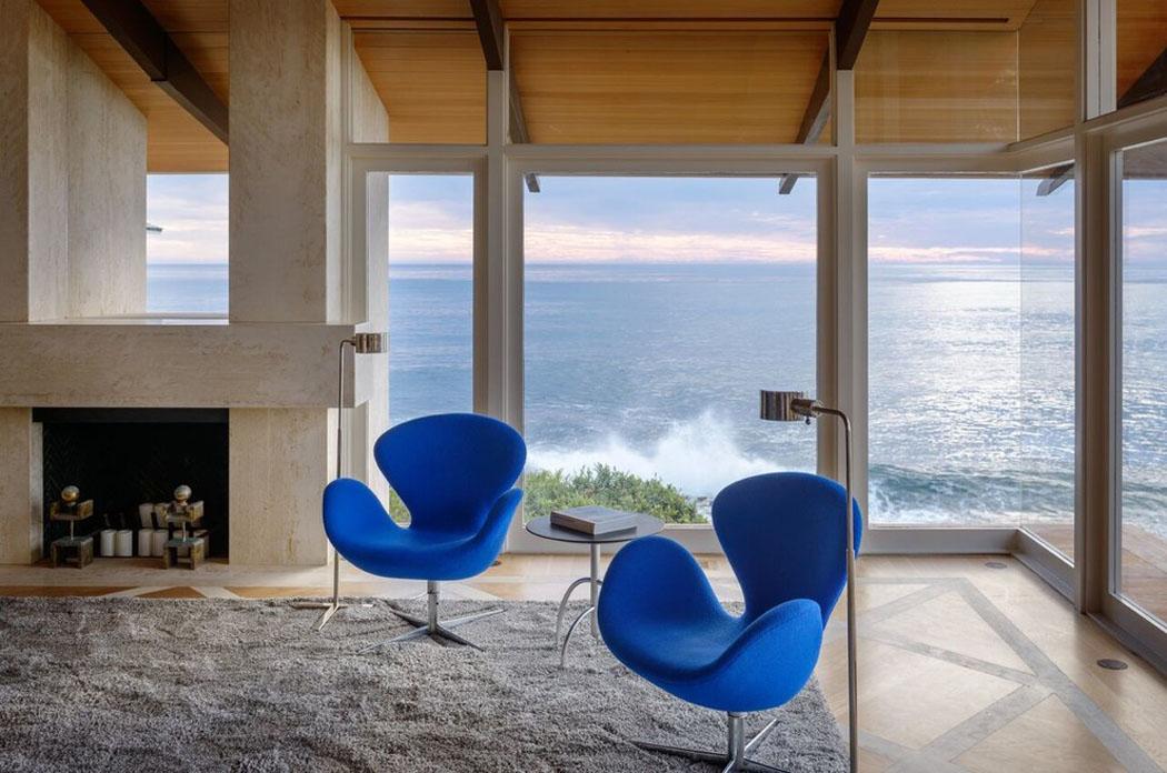 Belle maison de vacances au design int rieur contemporain et splendide vue sur la plage vivons - Interieur minimaliste villa de vacances block ...