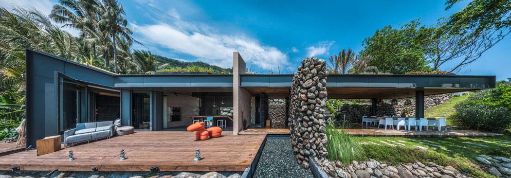 Magnifique villa de vacances à Taiwan s\'étendant sur trois niveaux ...